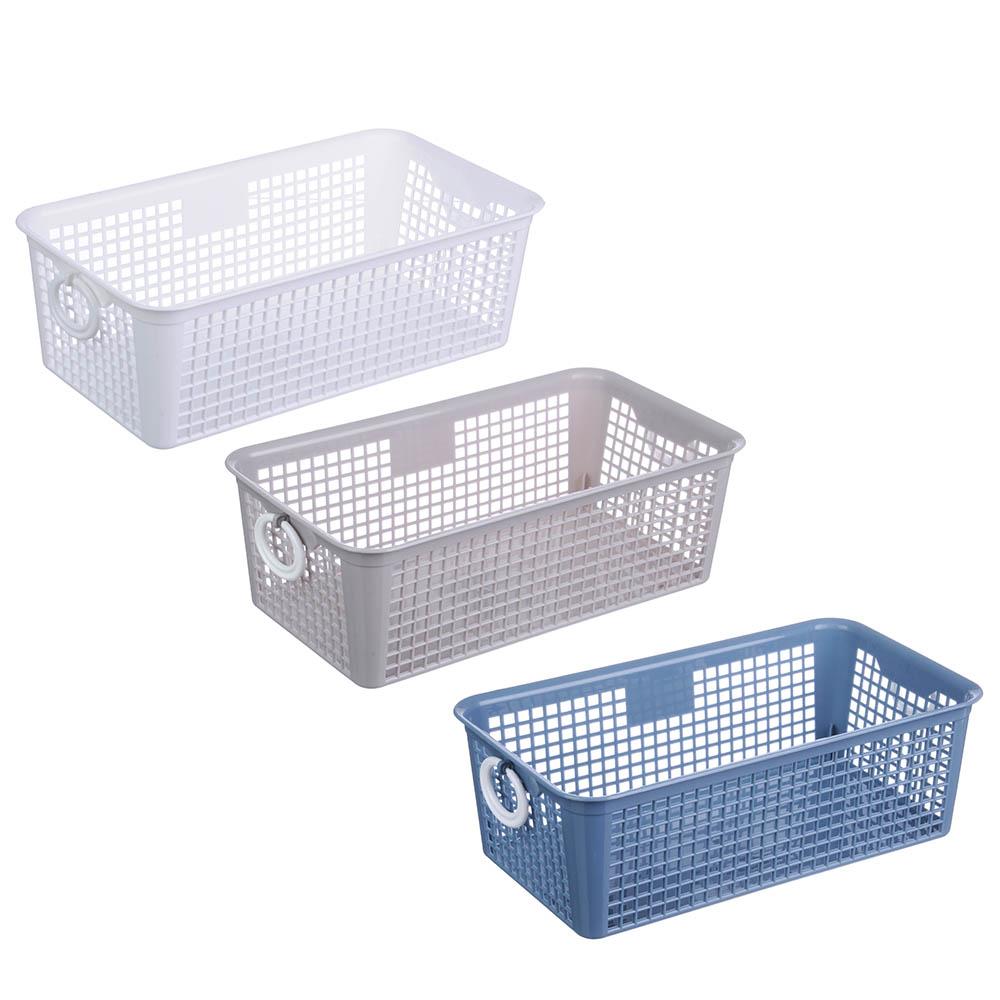 "Блок для хранения мелочей, пластик, 26x14x9 см, 3 цвета, ""Корзина"""