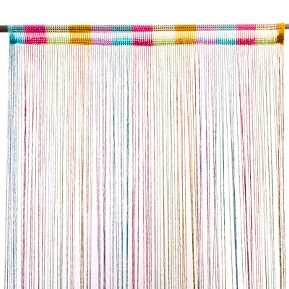 Занавеска нитяная 1x2м, с блестками, цветная