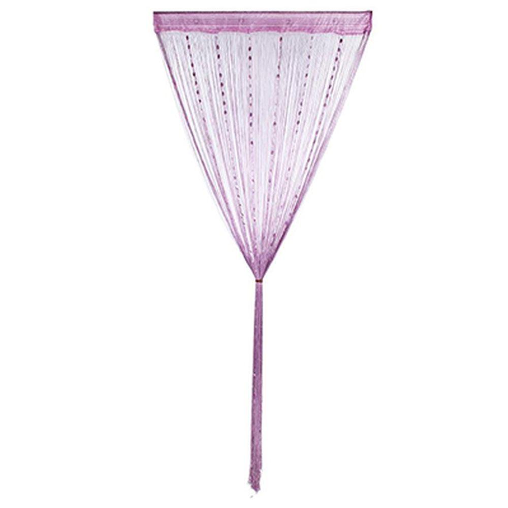 Занавеска нитяная 1x2м, с пластиковым декором, фиолетовая