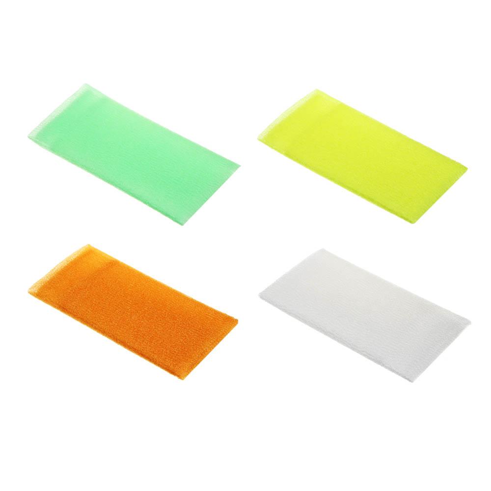 """Мочалка """"Японская"""", средней жесткости, лента, 30х90см, 4 цвета"""