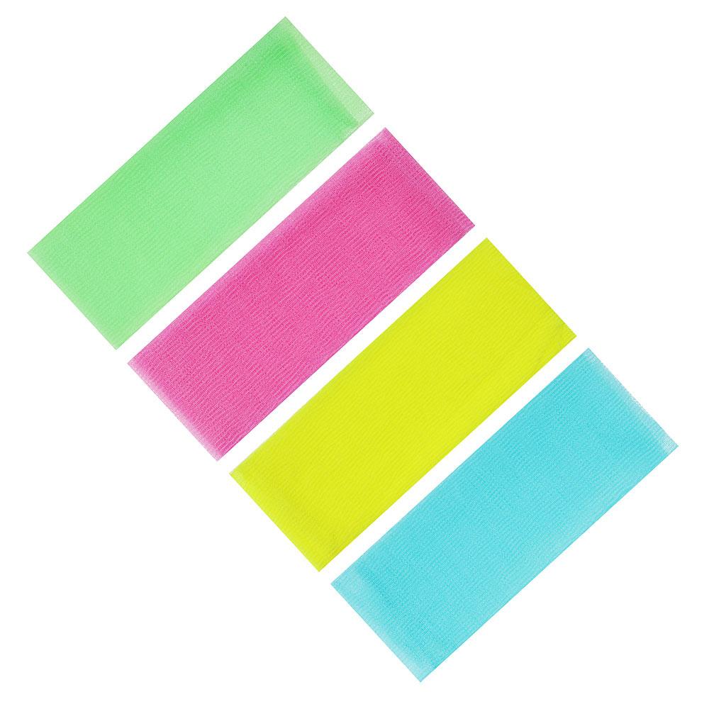 """Мочалка """"Японская"""", жесткая, лента, 30х100см, 4 цвета"""