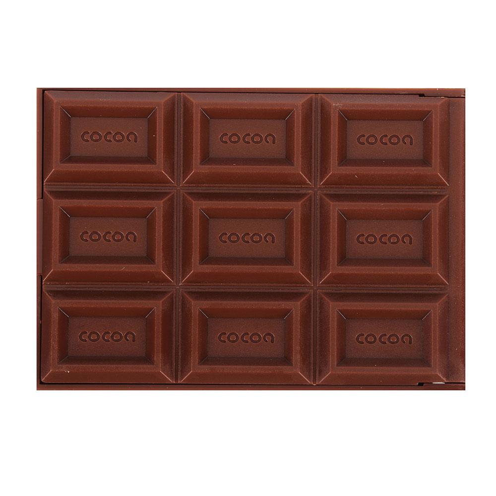 """Карманное зеркало складное с расческой, 11,5х6х1 см, пластик, 2-3 цвета, """"Шоколад"""""""
