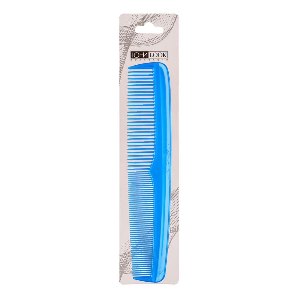 Расческа гребень для волос ЮниLook, 17,7х3,1 см, 4 цвета