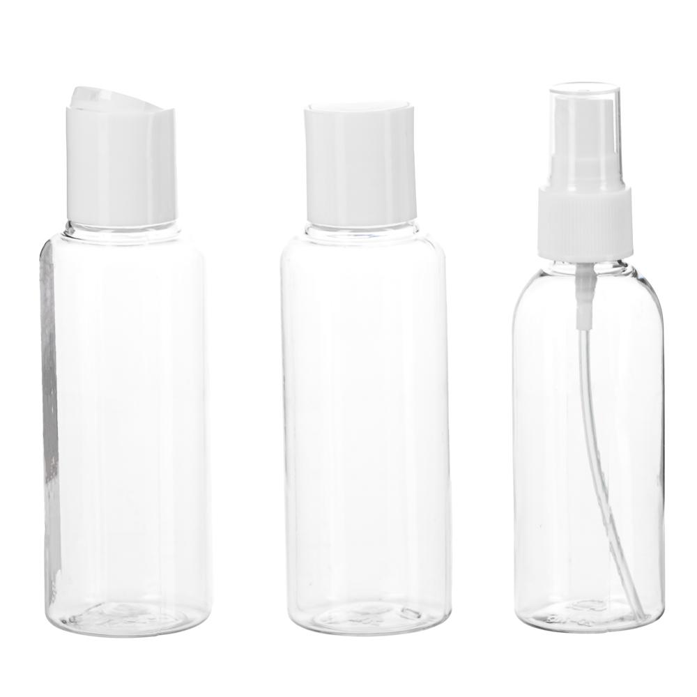 Набор бутылочек 3шт (2шт - 100мл, 1шт - 80мл), пластик, МС-02