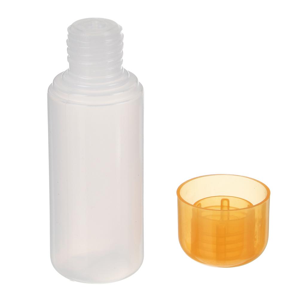 Набор бутылочек 3шт - 60мл, пластик, в косметичке, 3 цвета