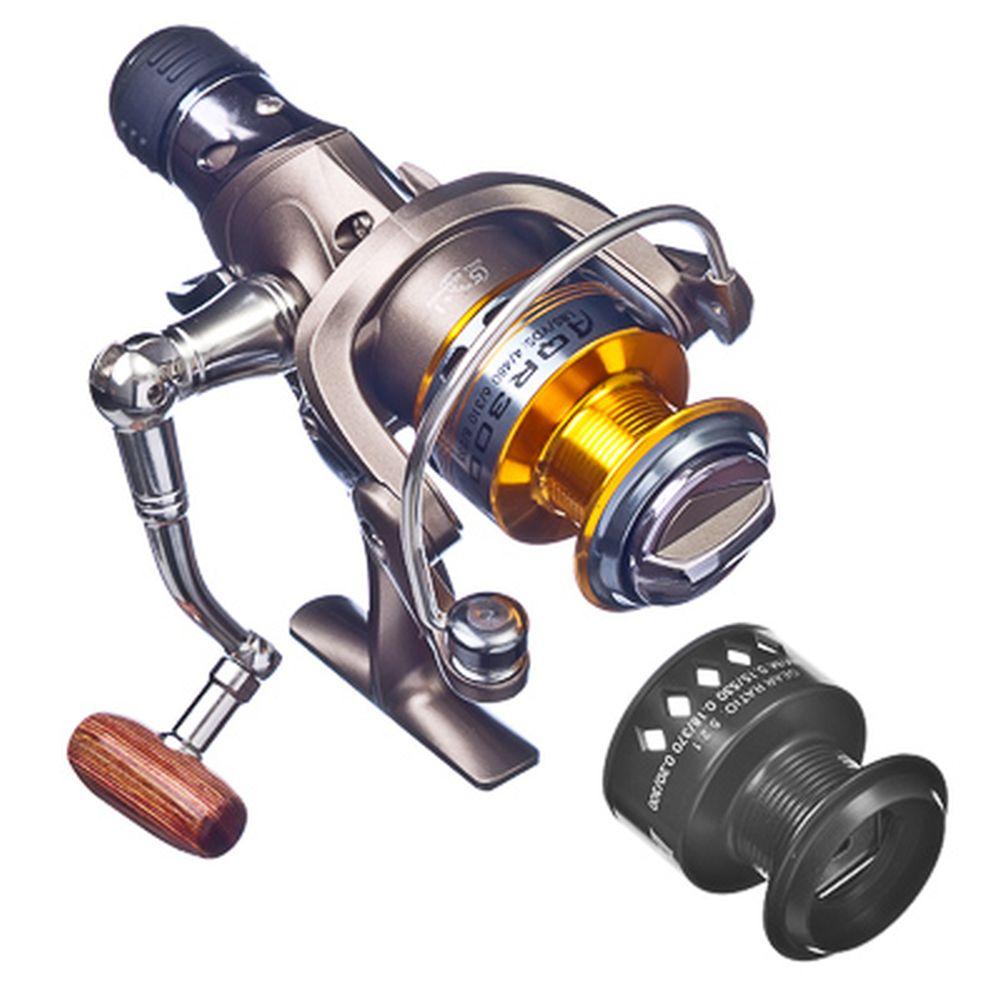 AZOR Катушка AQR 300, передн и задний фрикцион, байтранер, 5+1п/п, металл, алюм. шпуля
