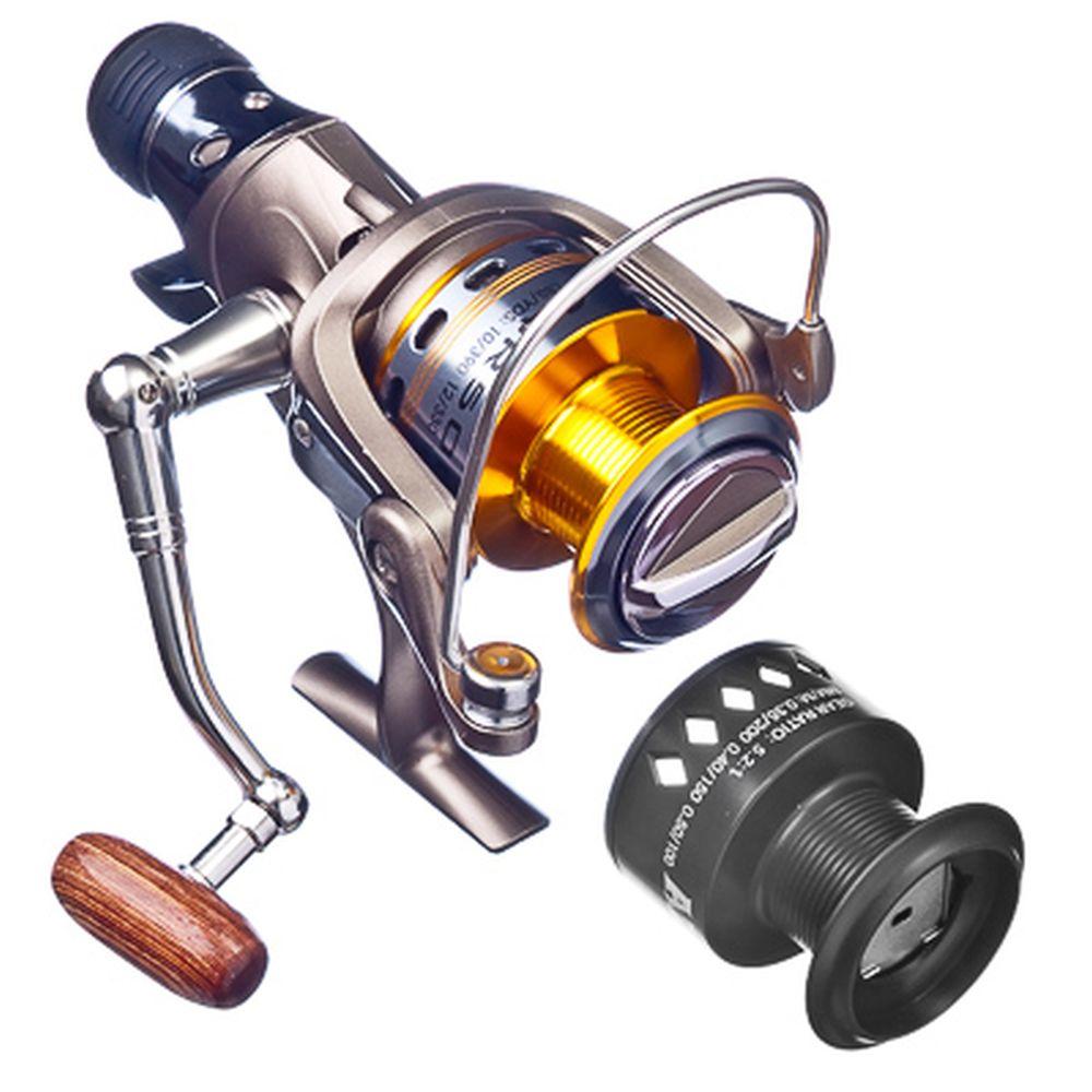 AZOR Катушка AQR 500, передн и задний фрикцион, байтранер, 5+1п/п, металл, алюм. шпуля