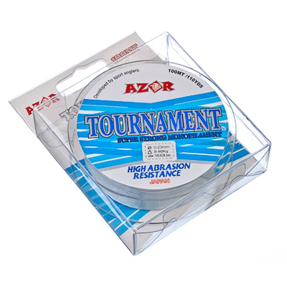 AZOR Леска Tournament 0,23 мм, 100м, голубая
