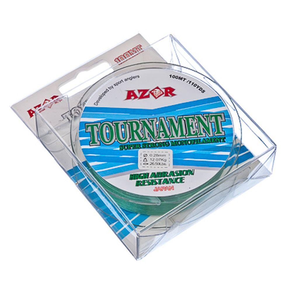 AZOR Леска Tournament 0,28 мм, 100м, светло-зеленая