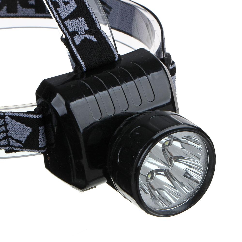 ЧИНГИСХАН Фонарь налобный аккумуляторный 5 ярк. LED, вилка 220В, 8х6х7,5см