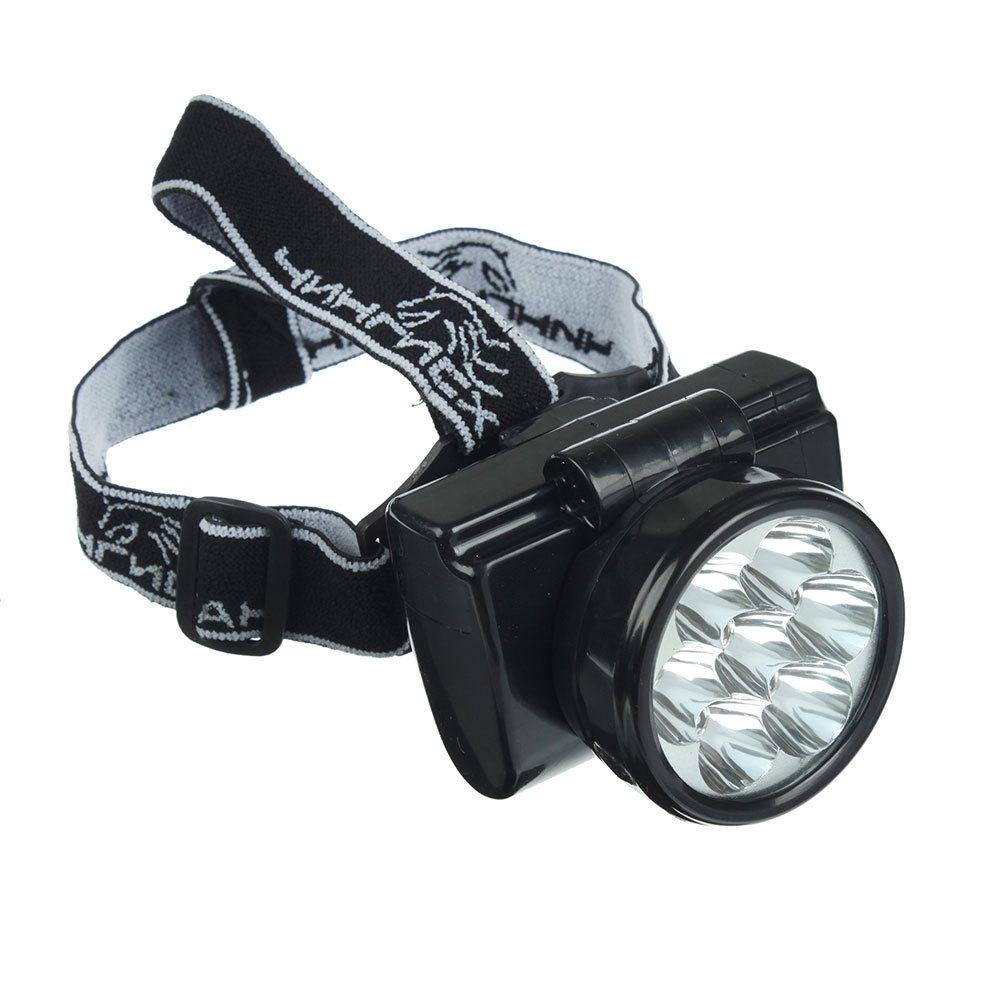 ЧИНГИСХАН Фонарь налобный аккумуляторный 7 ярк. LED, шнур 220В, 8,8х7х7,6см