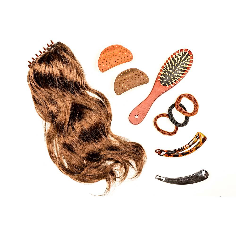 Искусственные волосы на заколках, канекалон, 40 см, 2-3 дизайна