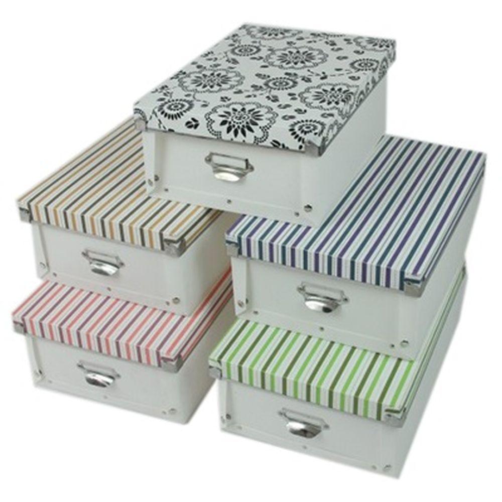 Бокс для хранения ПВХ, 32,5х24,5х13см, 5 цветов, SJ-3331