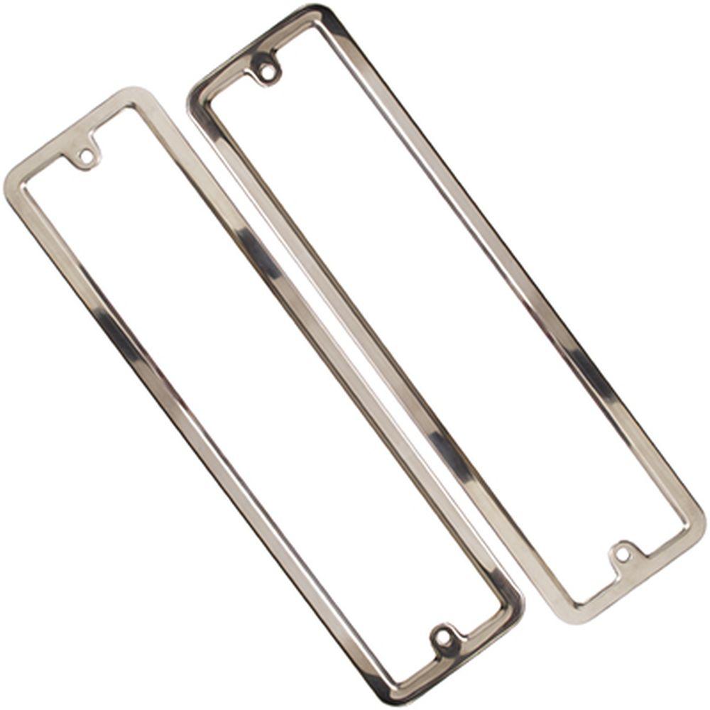 Рамканомерного знака нерж. сталь, комплект 2шт, полированная