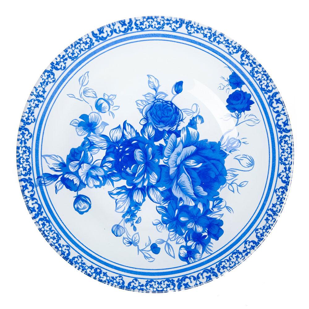 VETTA Гжельские мотивы Тарелка десертная стекло 200мм, S3008-GC002, 2 дизайна GC