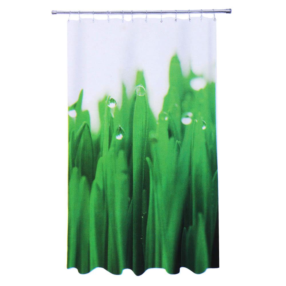 """VETTA Шторка для ванной, ткань полиэстер с утяжелит, 180x180cм, фотопечать, """"Трава"""" Дизайн GC"""