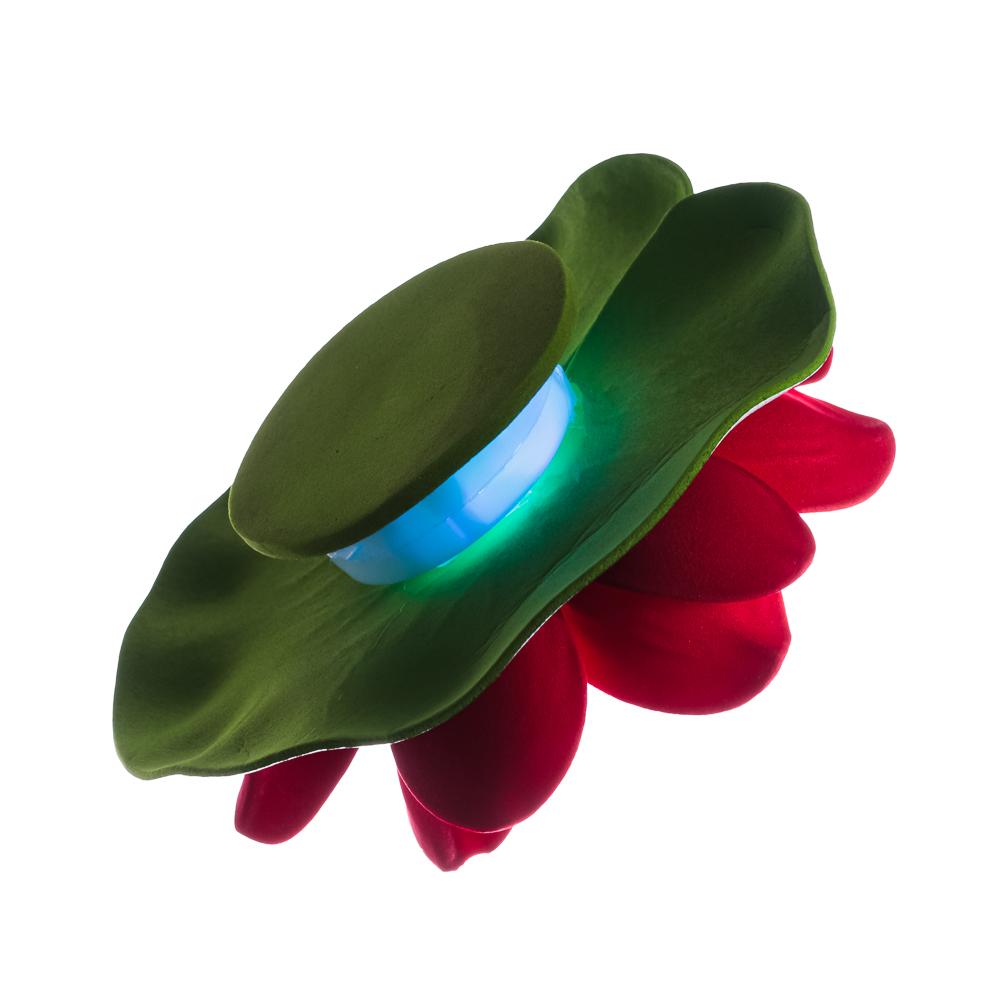 Лилия декоративная с подсветкой для пруда,батарея LR41х3, полиэстер, 10см, 12 цветов