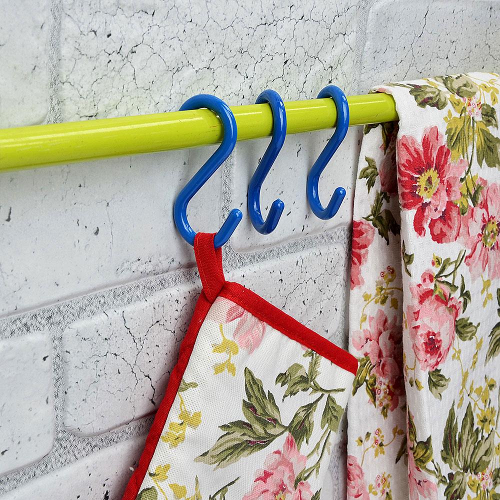 Набор крючков для рейлинга 5 шт, до 0,5 кг, 7 см, пластик, ВЕСЕЛЫЙ РОДЖЕР