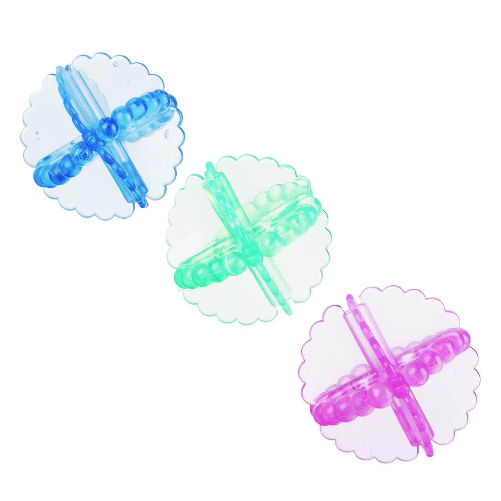 Набор мячей для стирки белья 3шт, ПВХ, d5,5см