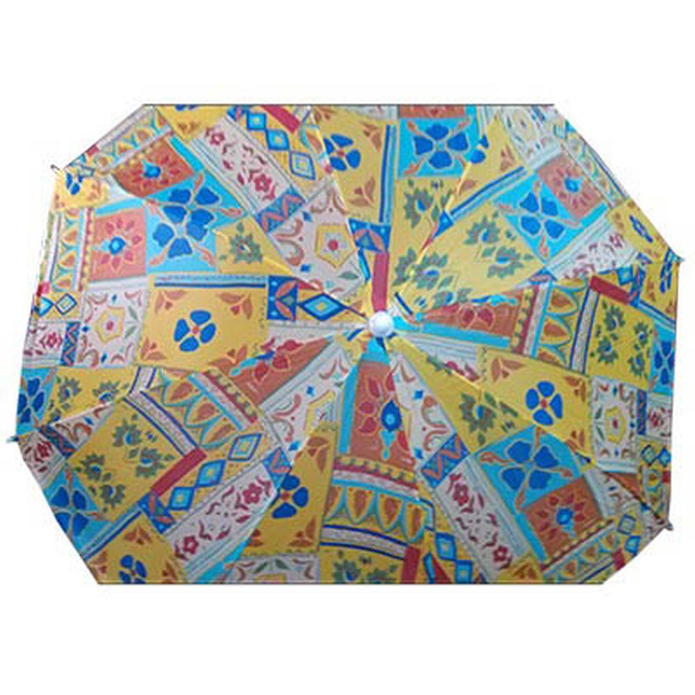 """Зонт пляжный """"Абстракция"""" 170Т полиэстер с ножкой, 180см"""