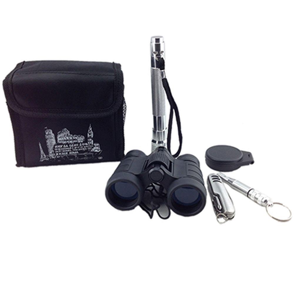 Набор дорожный 6 пр.(компас, свисток, нож многофункц, бинокль, фонарик) в сумке11x11x7.5 см