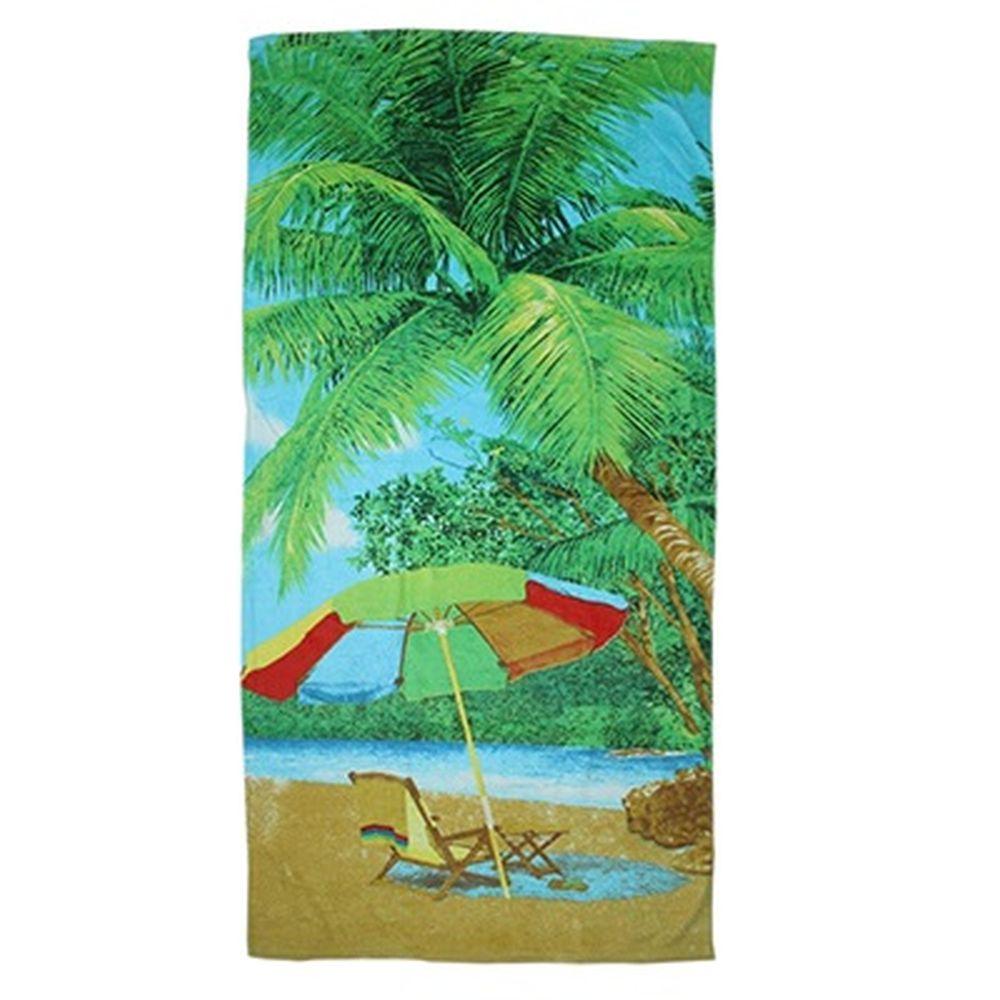 Полотенце пляжное 140x70см, 100% хлопок, арт.П-127