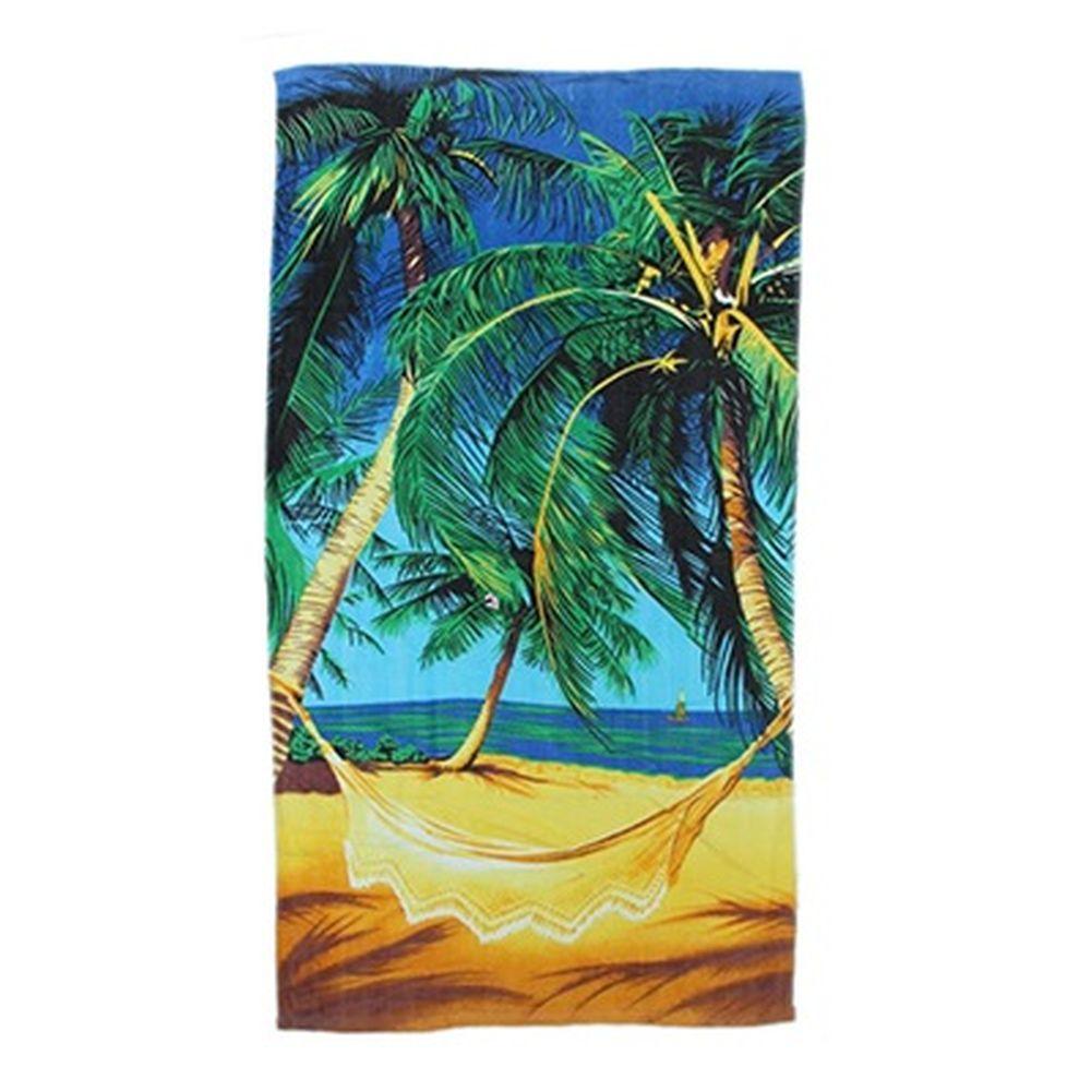 Полотенце пляжное 140x70см, 100% хлопок, арт.П-131