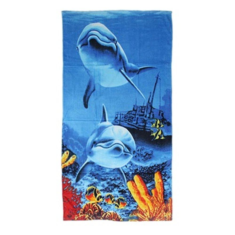Полотенце пляжное 140x70см, 100% хлопок, арт.П-132