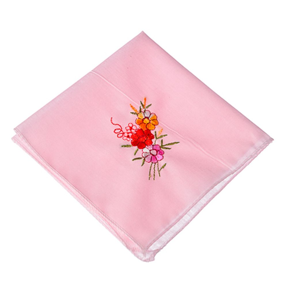 Носовой платок, хлопок, 25x25см, 3 дизайна