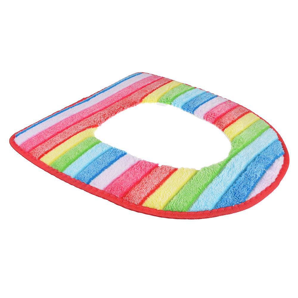 Чехол для сиденья унитаза, искусственный мех, ПВХ, 44х37см, 4 цвета