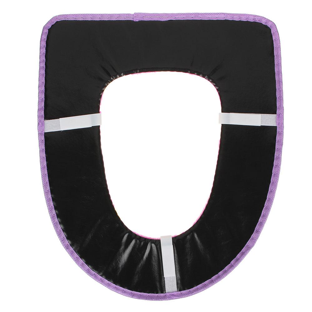 Комплект чехлов для сиденья и на крышку унитаза, на липучке, искусственный мех, ПВХ, 44х38см, 4 цвет
