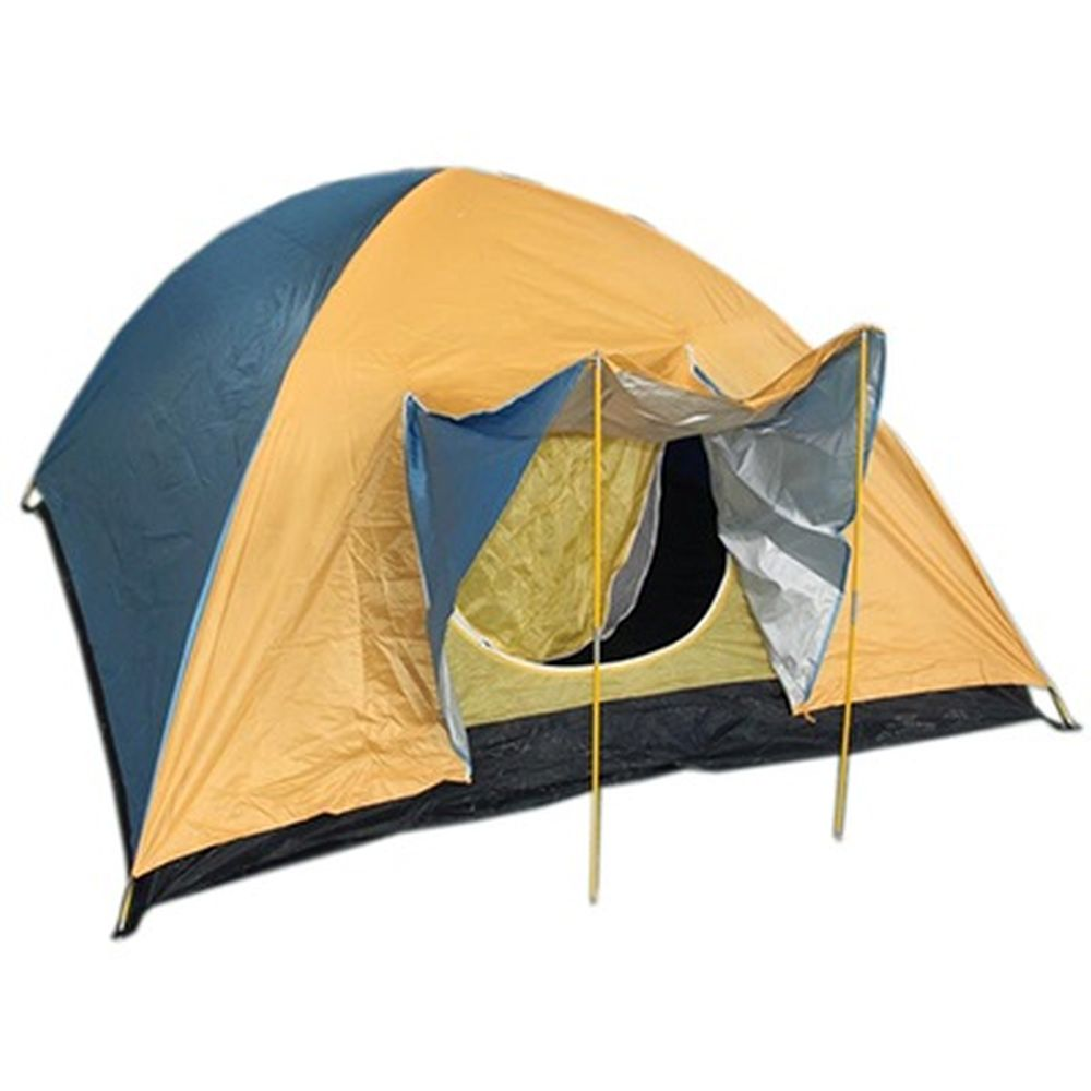 Палатка 4-мест., 2-сл., 2,1x2,4x1,35м, 170Т нейлон, YJZP-09