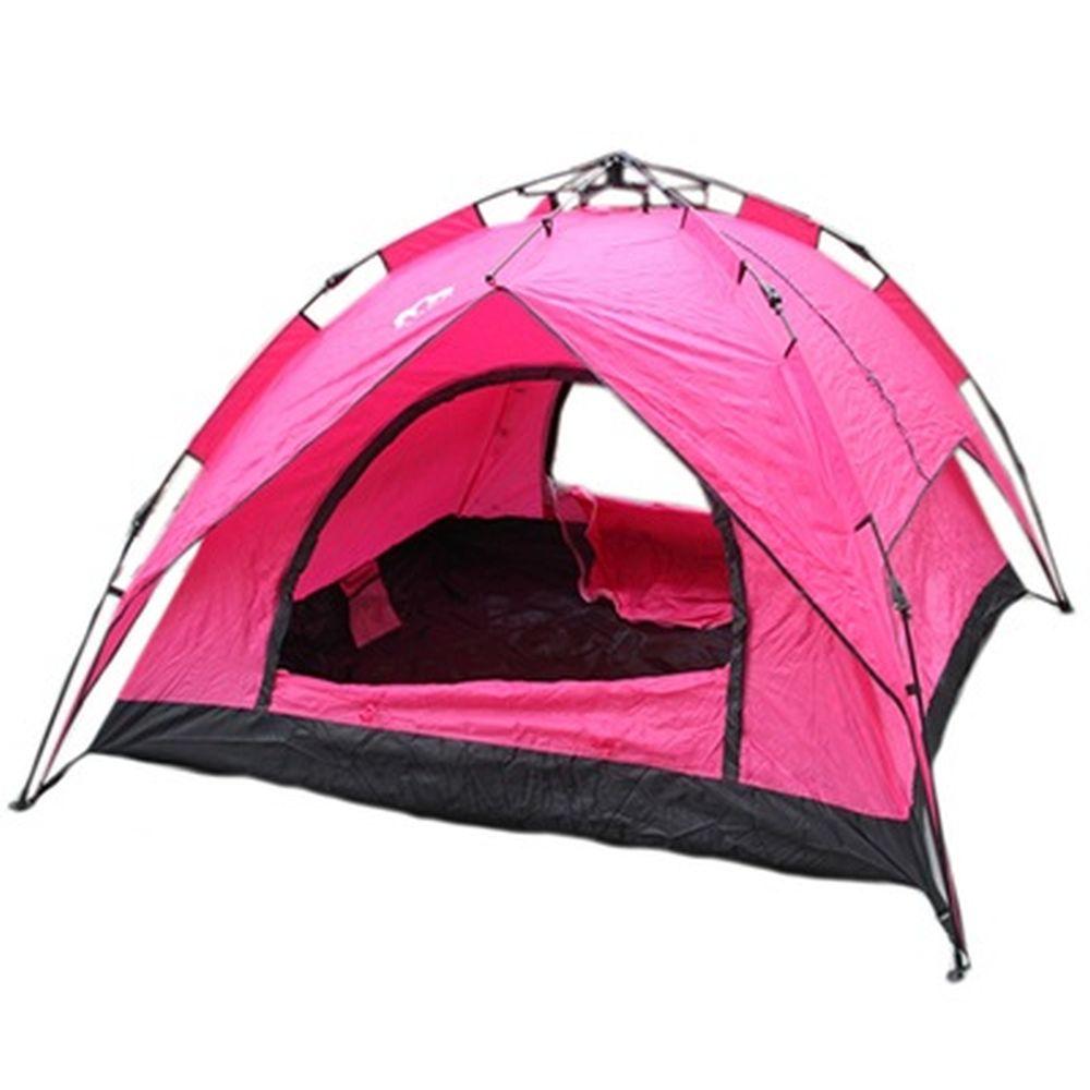 Палатка 3-мест., 2-сл., 2,3x2,3x1,4м, автомат, 210Т оксфорд, нейлон дн.170Т, YJZP-194