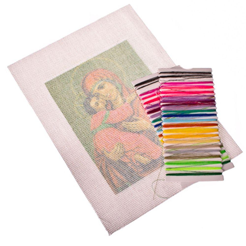 """Набор для вышивки 20х28см """"Богородица"""" (канва, нитки мулине, игла)"""
