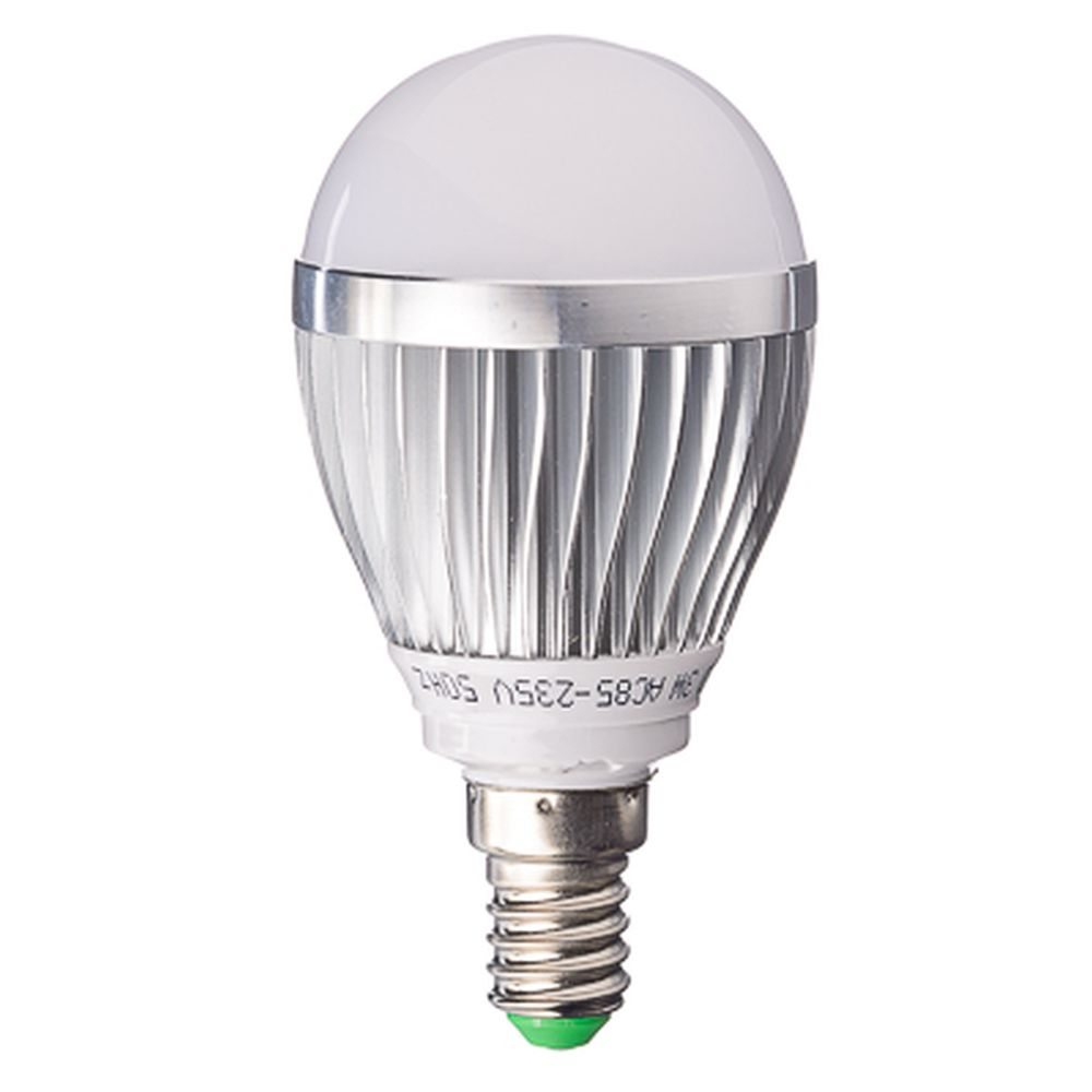 "Лампа LED 2700К ""тёплый"" солнечный свет, E14, алюминиевый корпус, 3W, 85-235V"