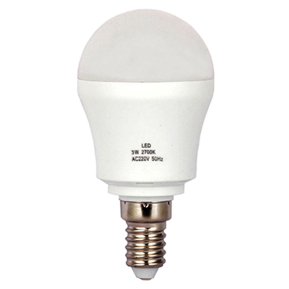 "Лампа LED 2700К ""тёплый"" солнечный свет, E14, пластиковый корпус, 3W, 220V"