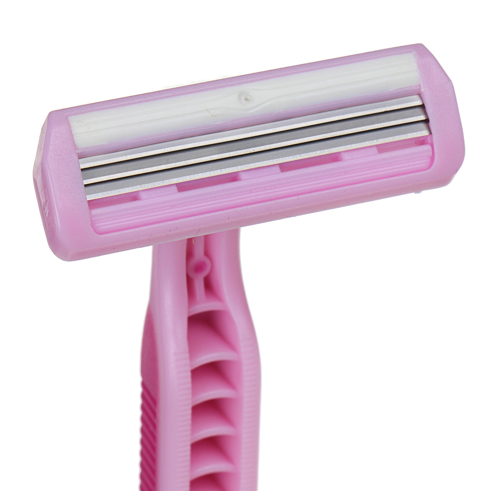 Станки для бритья с тройным лезвием 4шт для женщин, силикон, пластик