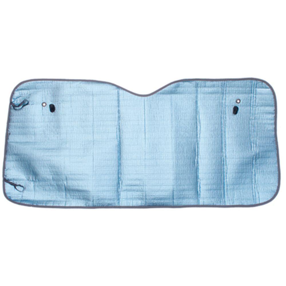 NEW GALAXY Шторка солнцезащитная на лобовое стекло, 130х60см, голубой металлик матов.