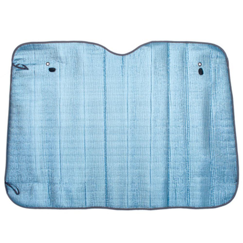 NEW GALAXY Шторка солнцезащитная на лобовое стекло, 130х90см, голубой металлик матов.