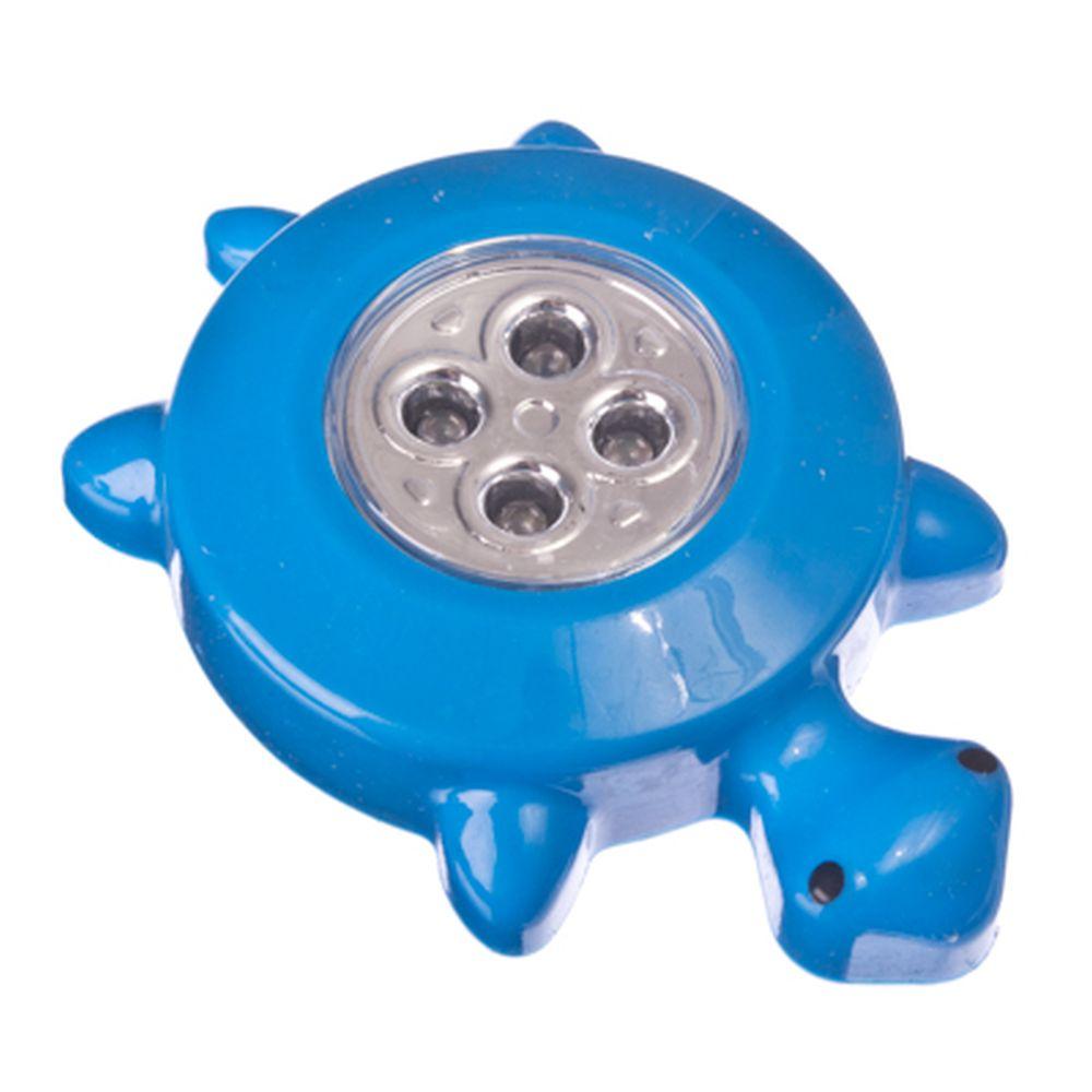 """Лампа-фонарик """"Черепашка"""" со светодиодами, 4 LED, 3xAAA, пушлайт, пластик, микс"""