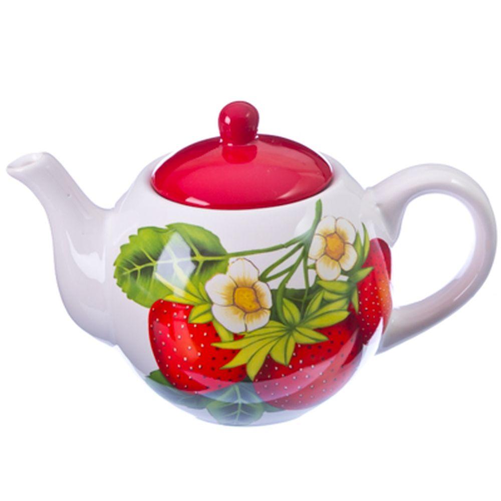 Клубника Чайник заварочный 730мл, керамика