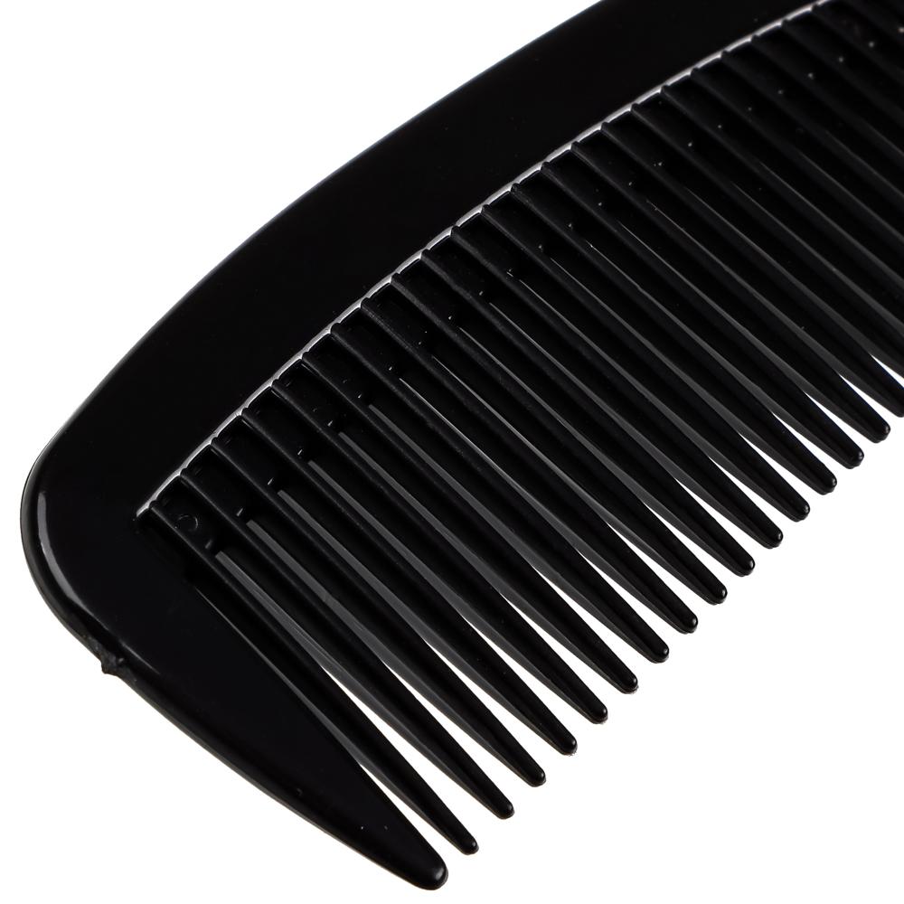 Расческа-гребень, пластик, 22x5 см, черный