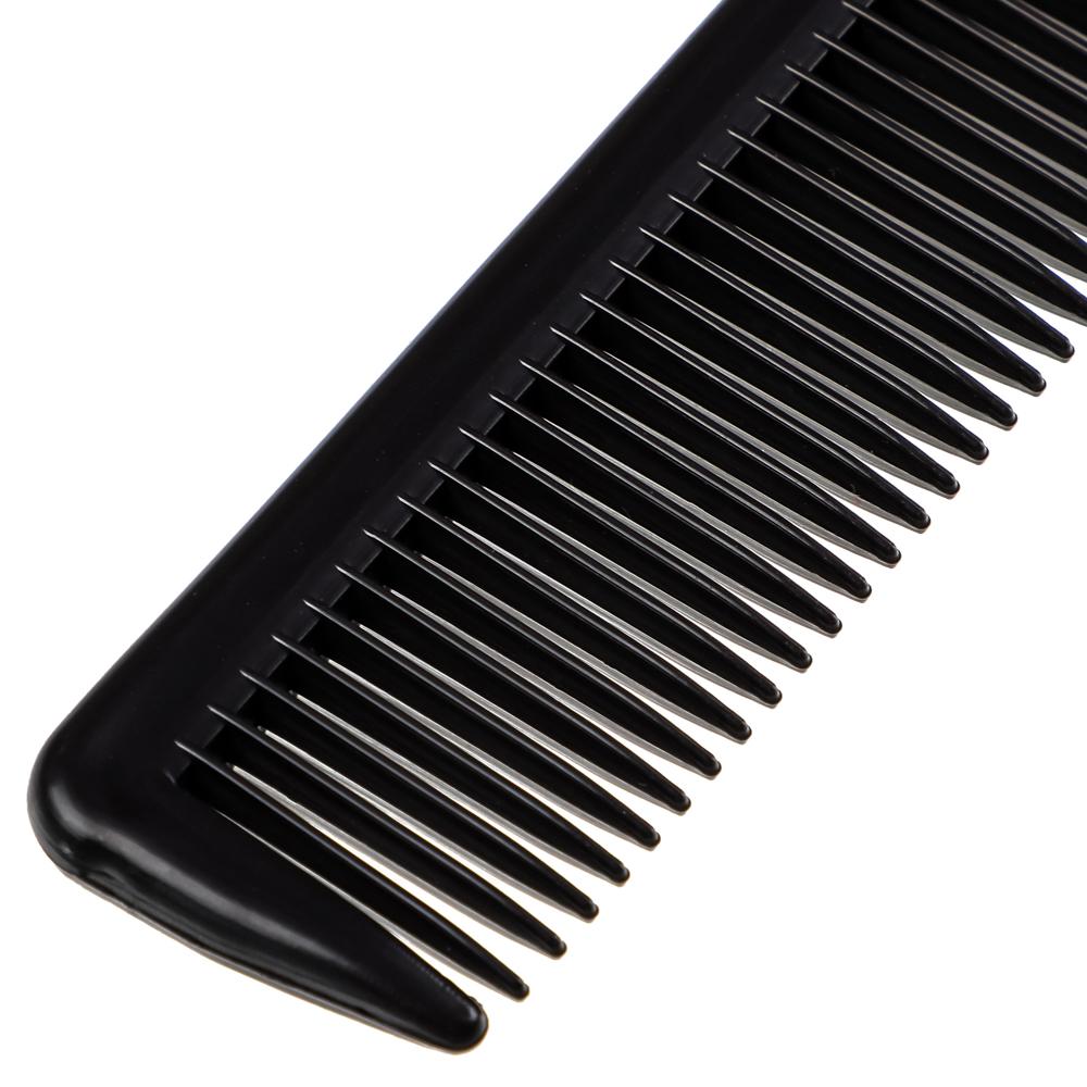 Расческа гребень для волос ЮниLook, карбоновая, 22x3 см, черный