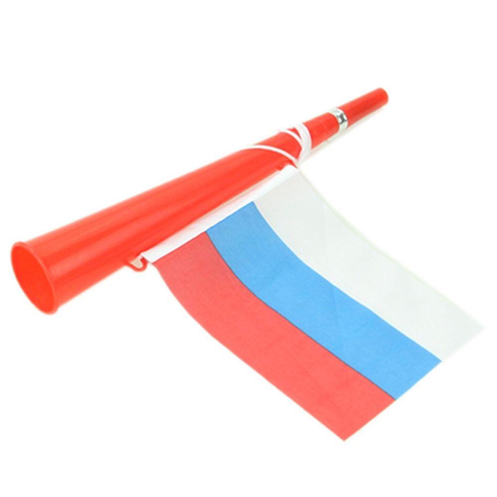 """Гудок болельщика с флагом """"Россия"""", пластик, 3 цвета, CD-37"""