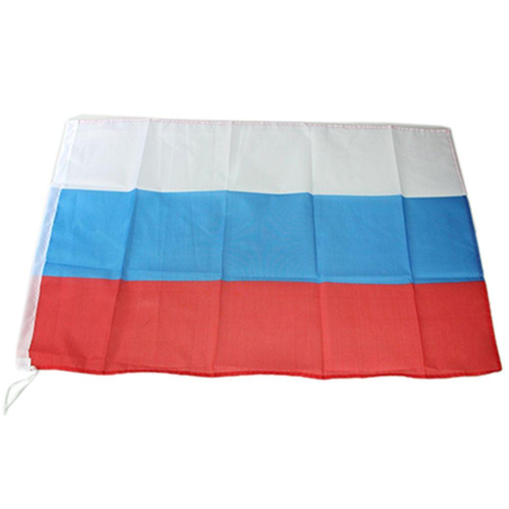 "Флаг ""Россия"" 90x60см, пластик, полиэстер, СD-17-5"