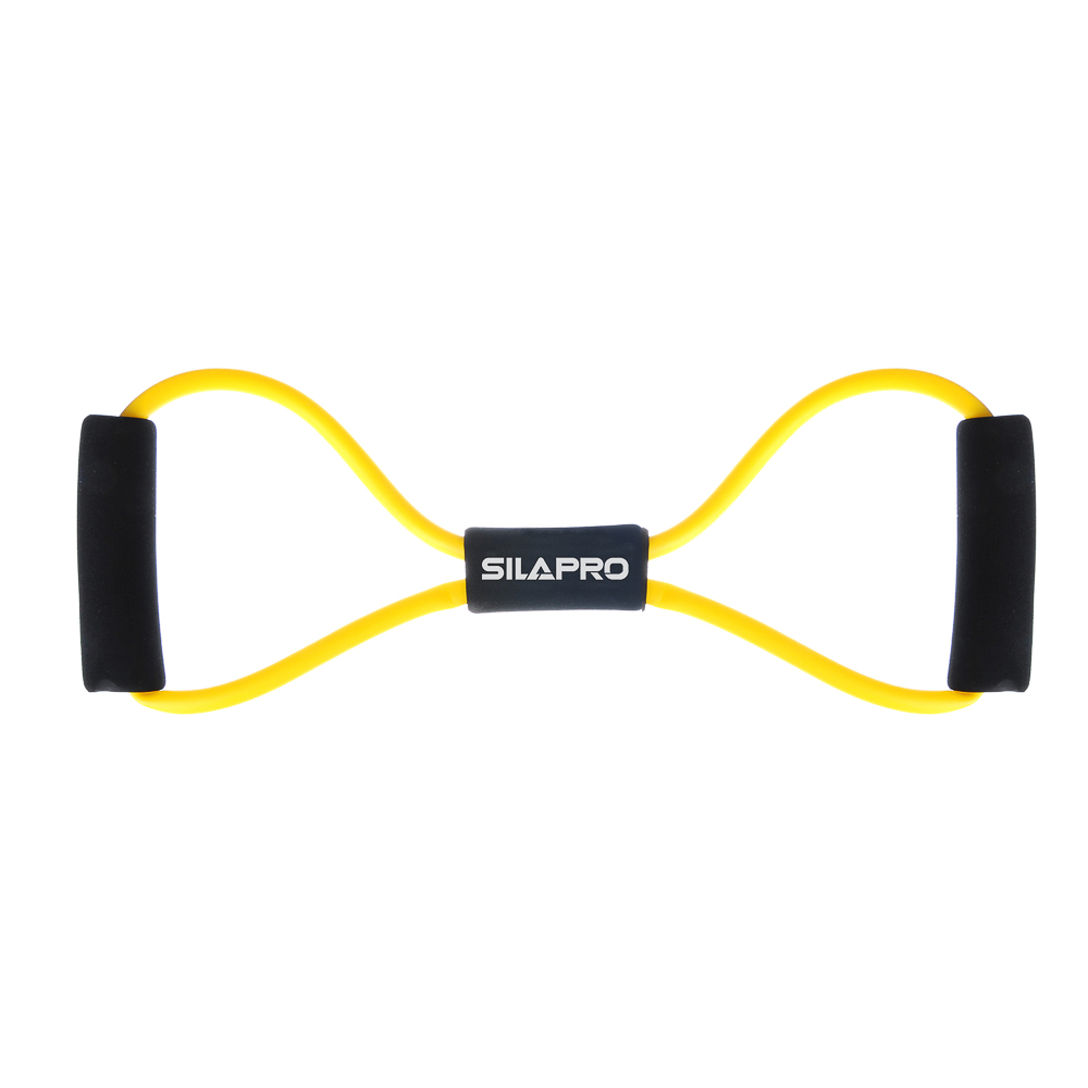 SILAPRO Эспандер для укрепления мышц груди и плечевого пояса, одинарный 36см, латекс, ПЭТ, восьмерка