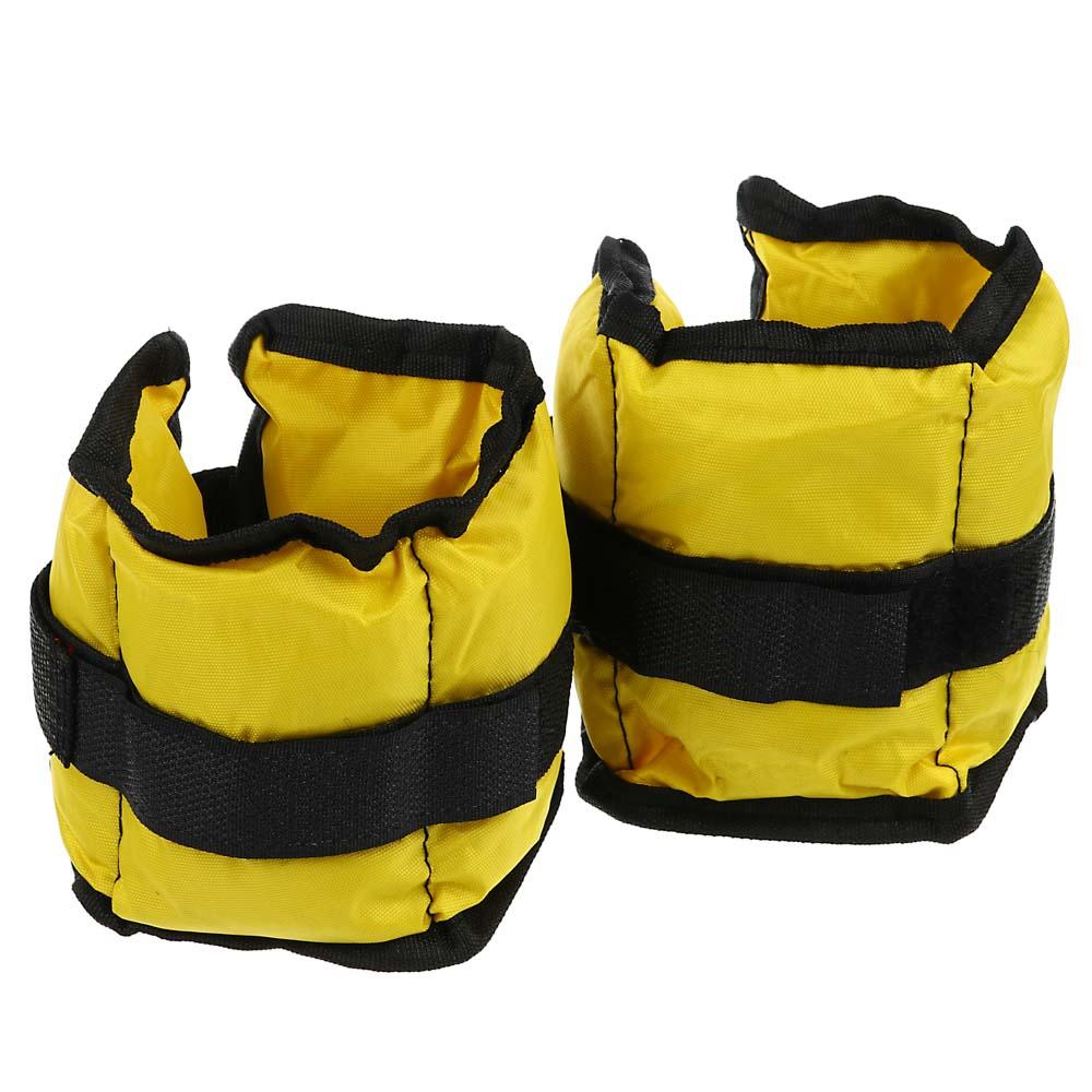 Набор утяжелителей для рук и ног текстильный, вес 1,0 кг(+-90гр), 2 штх0,5 кг, 27х11 см, 2 цвета, SI