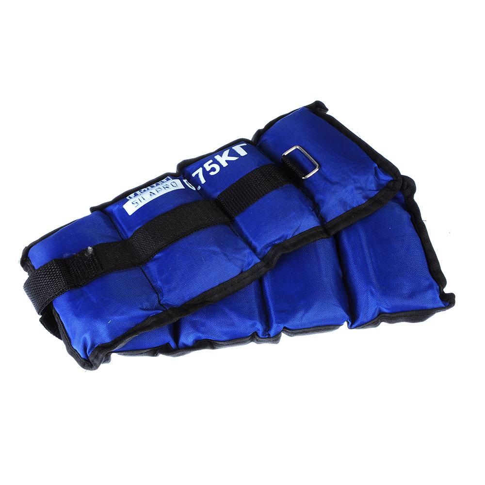 Набор утяжелителей для рук и ног текстильный, вес 1,5 кг(+-90 гр), 2 штх0,75 кг, 2 цвета, SILAPRO