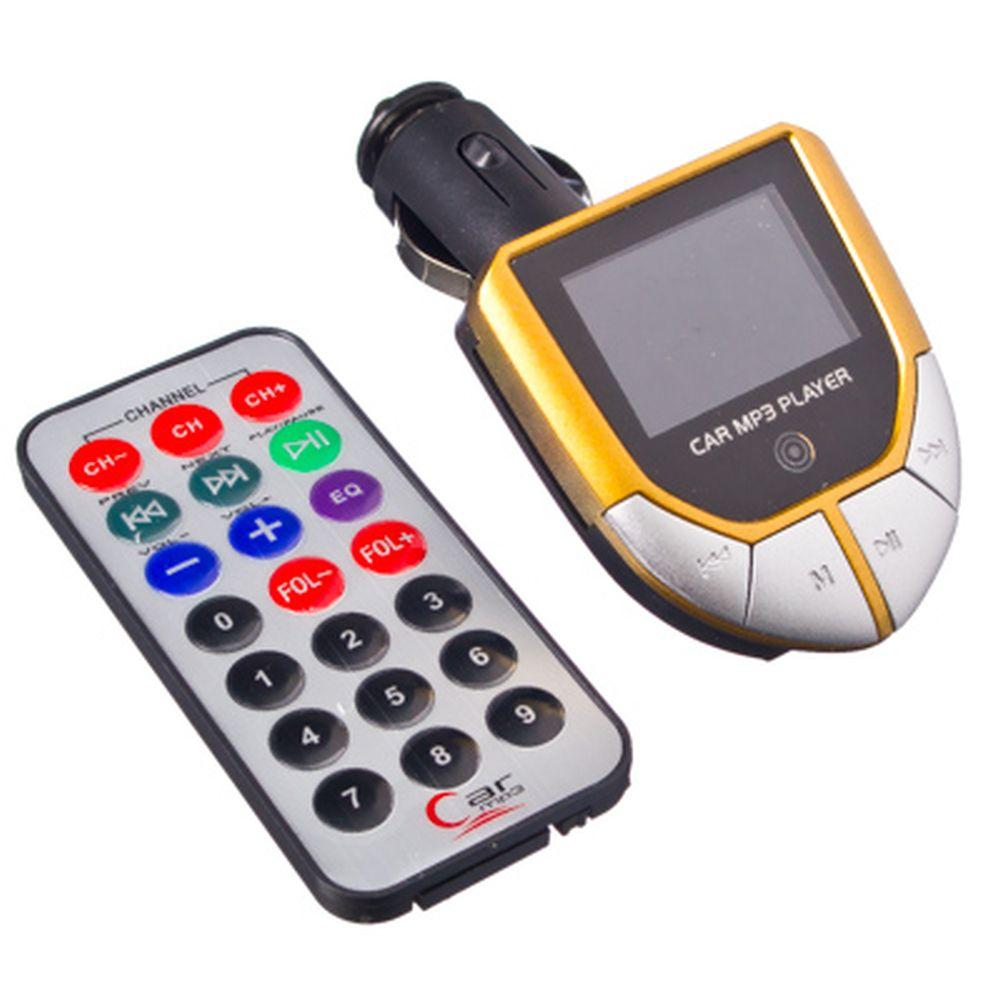 FM модулятор для авто с ПДУ, SD+USB, MP3, 3 цвета, HD89