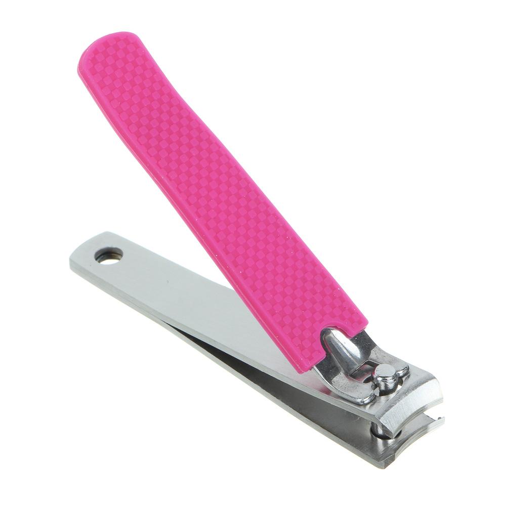 Книпсер для ногтей с пилкой, хром, металл, 8см